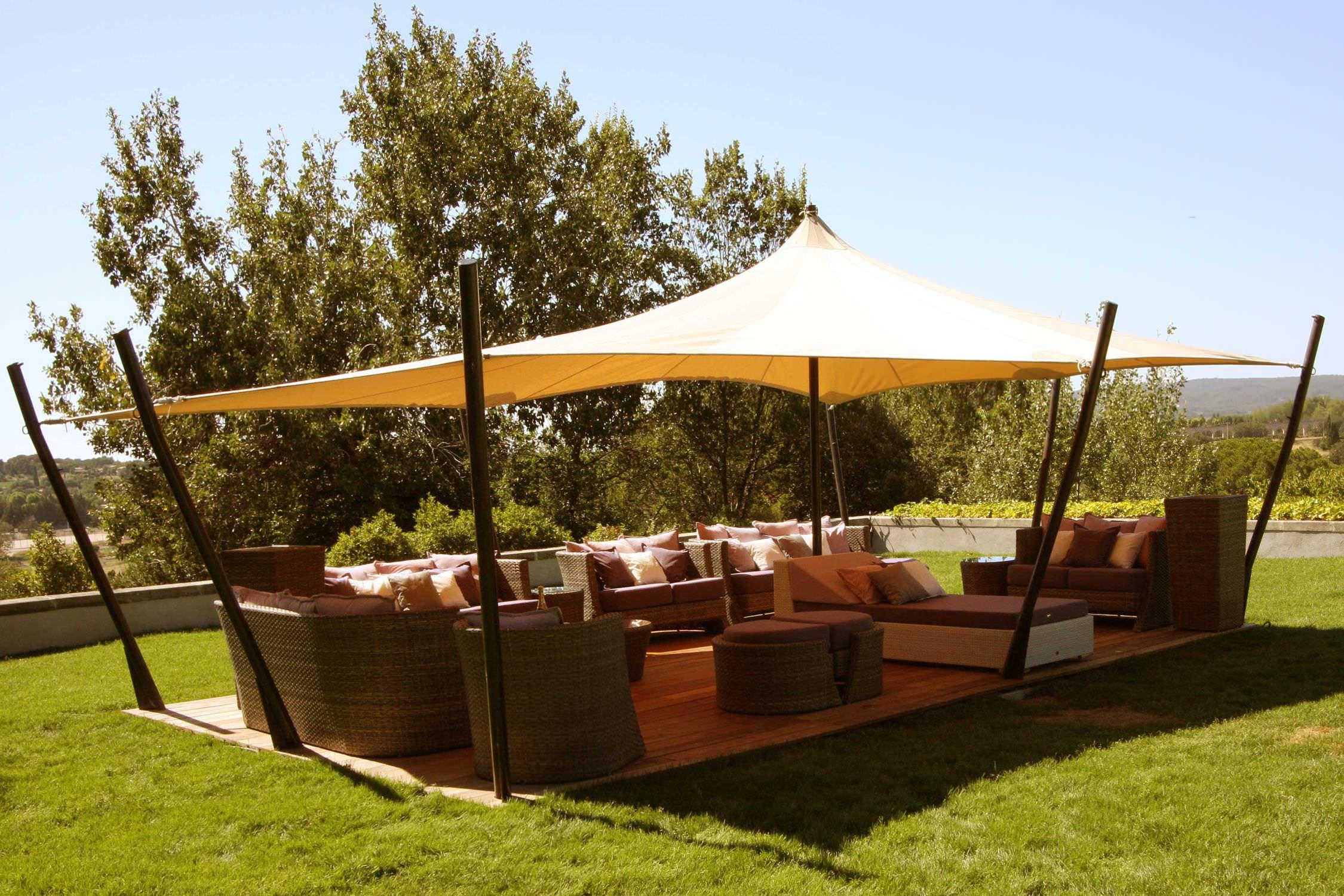 Fabric roof gazebo - TENTE TOUAREG JARDIN AIXOIS - Atelier ...