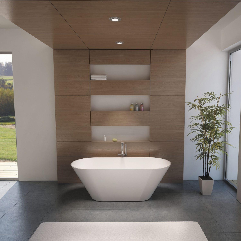 Free-standing bathtub / oval / Solid Surface - BARCELONA - RIHO