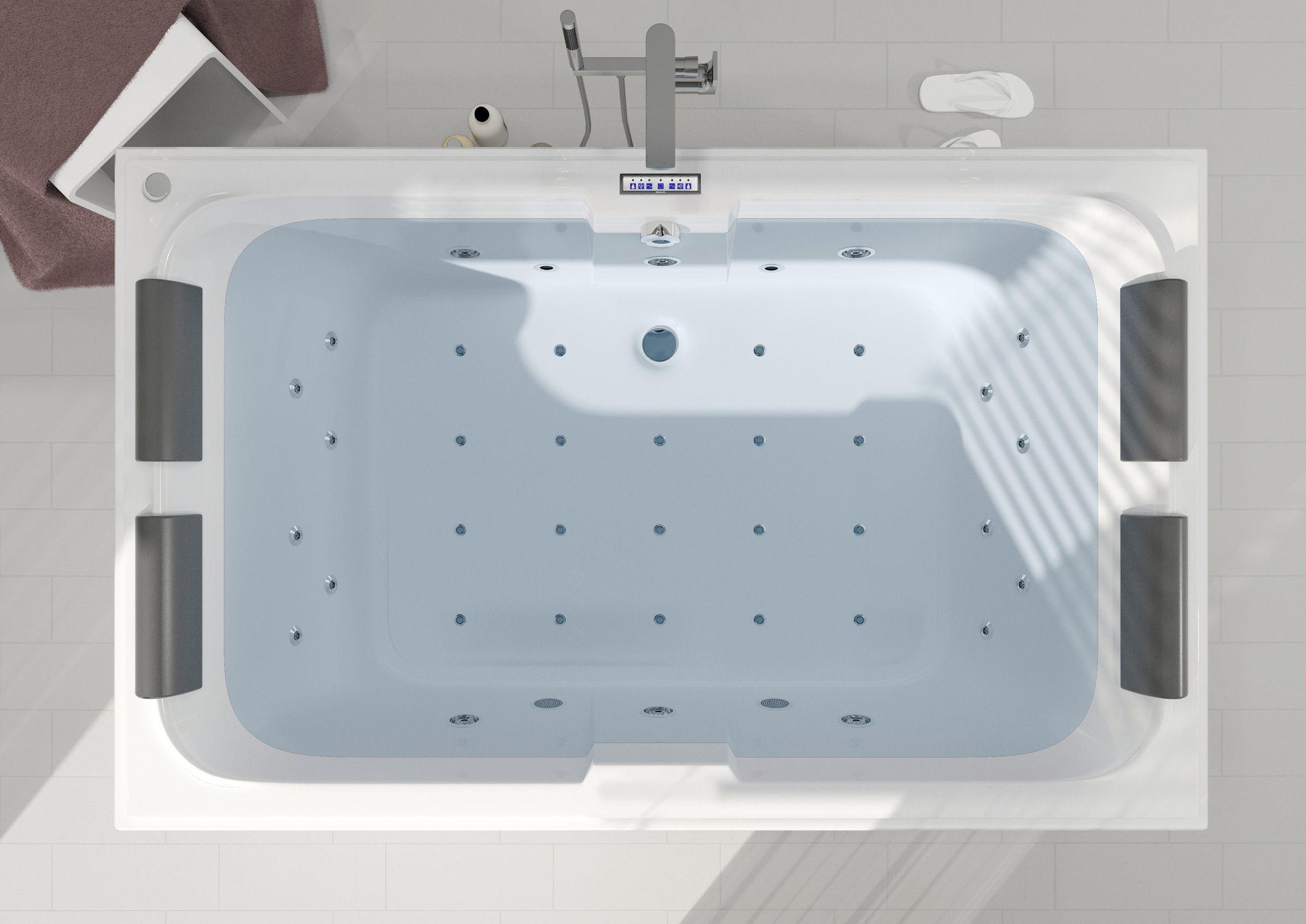 Acrylic bathtub / whirlpool - LAURA - RIHO