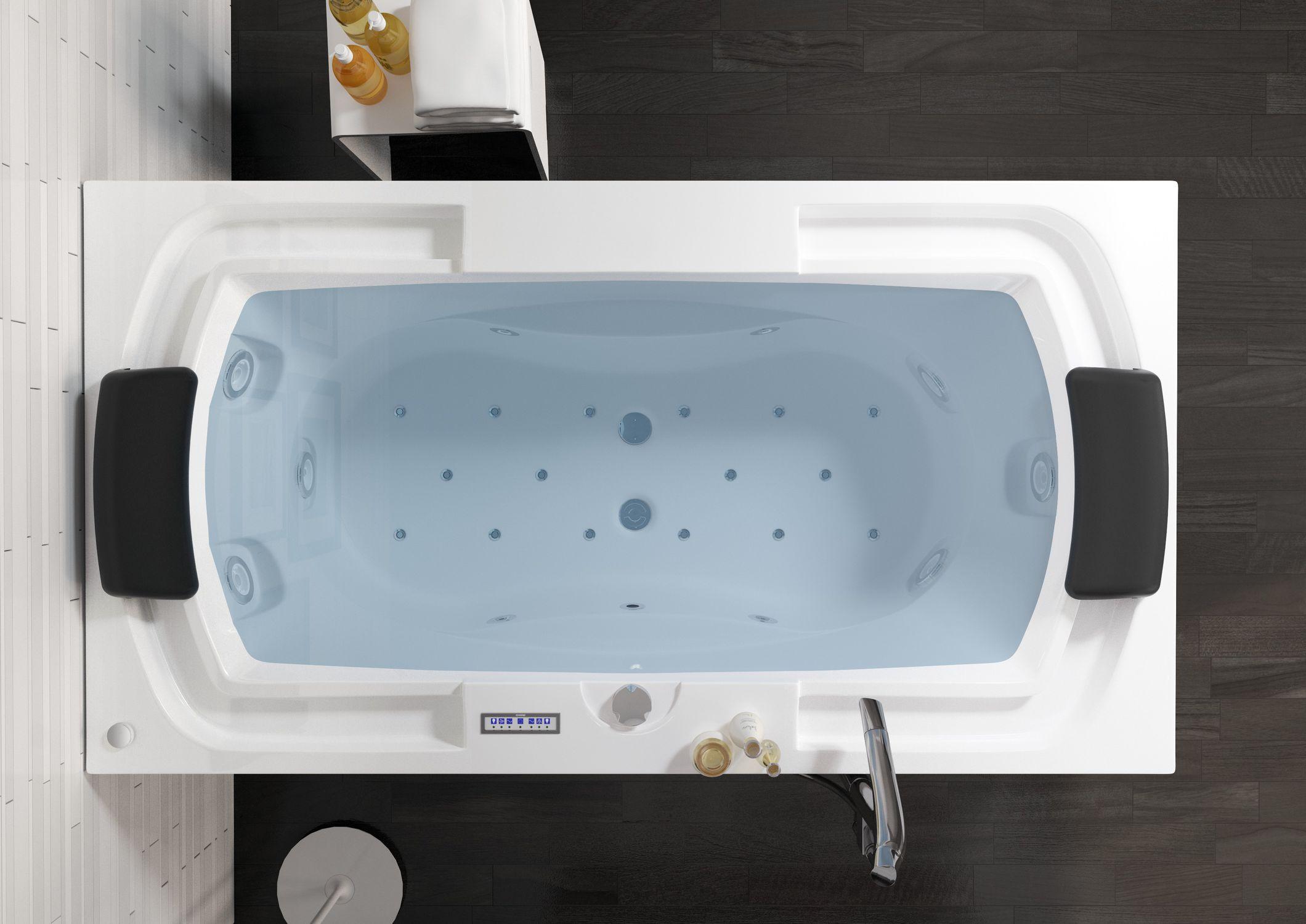 Acrylic bathtub / double / whirlpool - LISETTE - RIHO