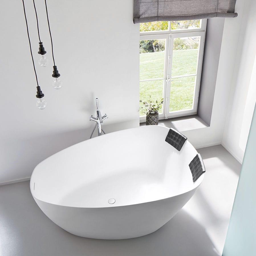 Freestanding bathtub / Solid Surface / double - TOLEDO - RIHO