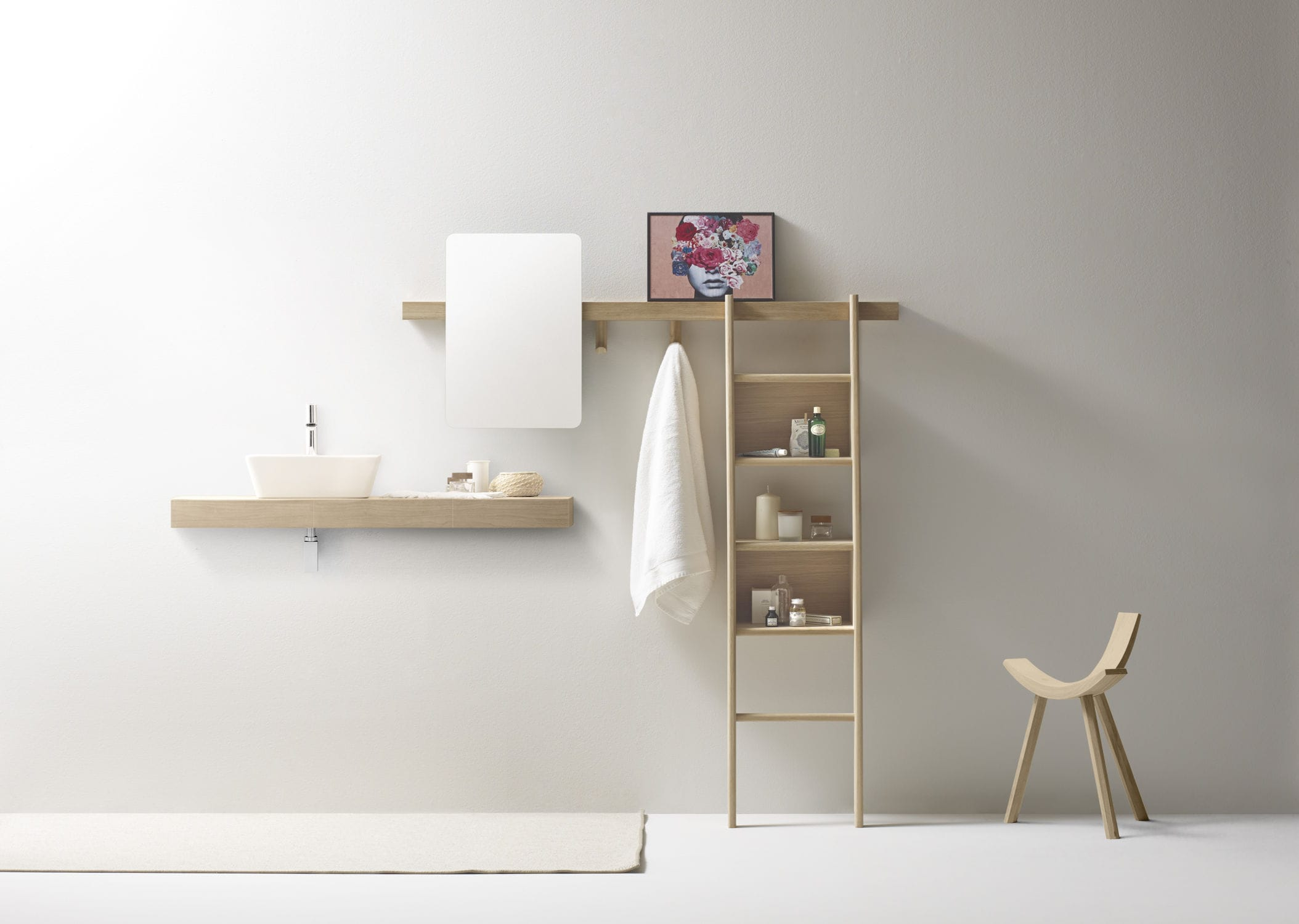 Design Contemporary Shelving wall mounted shelving system contemporary solid wood residential zutik by jean louis