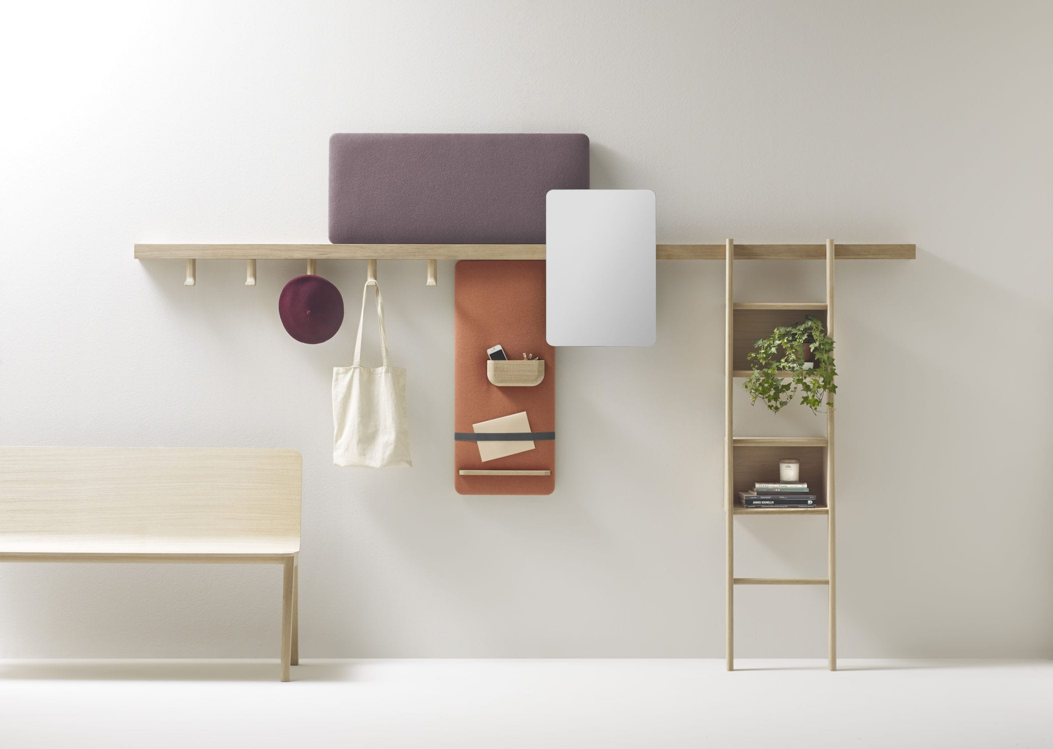 wallmounted shelving system  contemporary  solid wood  -  wallmounted shelving system  contemporary  solid wood  residentialzutik by jean louis