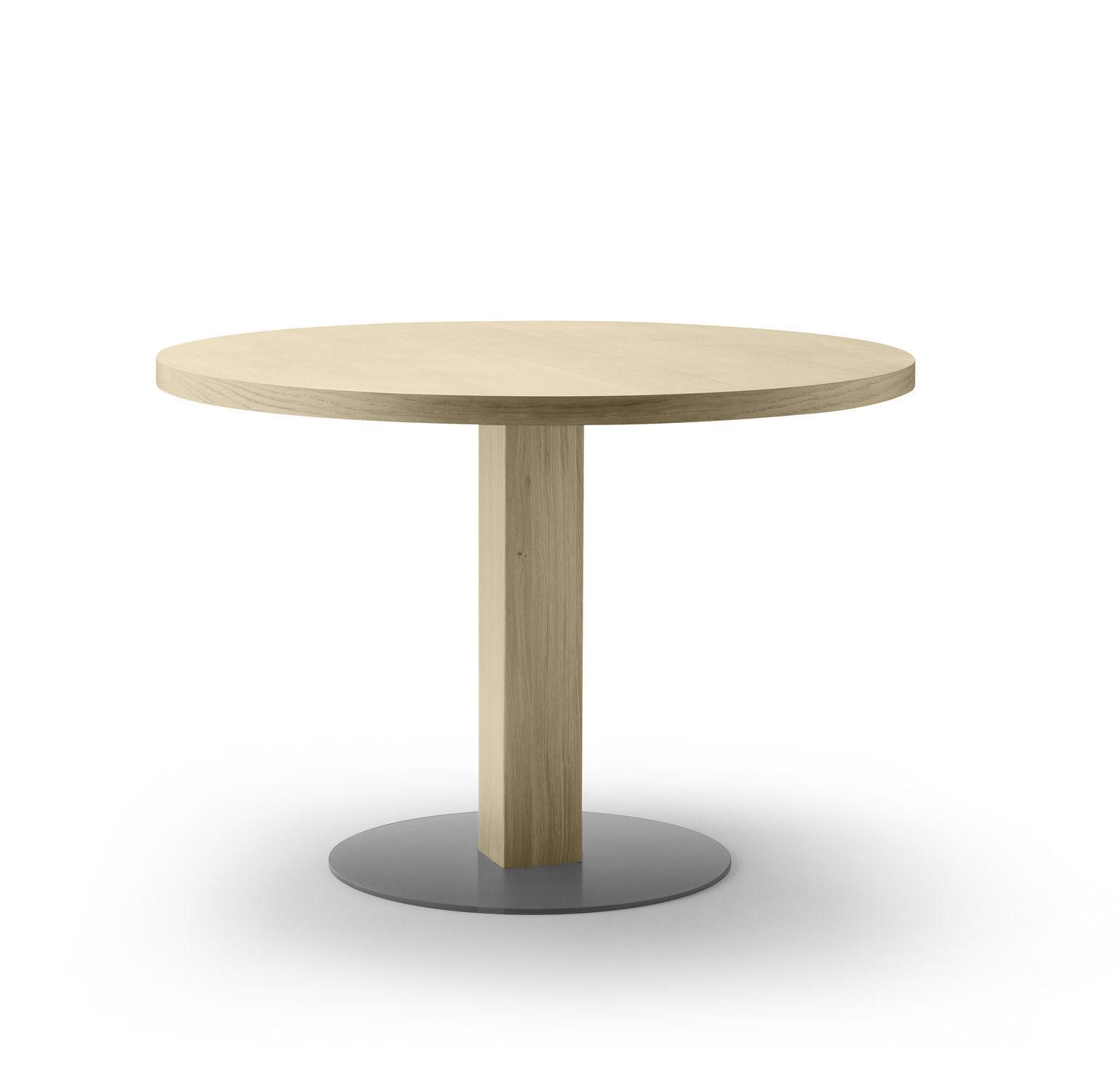 contemporary bistro table  metal  oak  round  emea by jean  -  contemporary bistro table  metal  oak  round emea by jeanlouisiratzoki alki