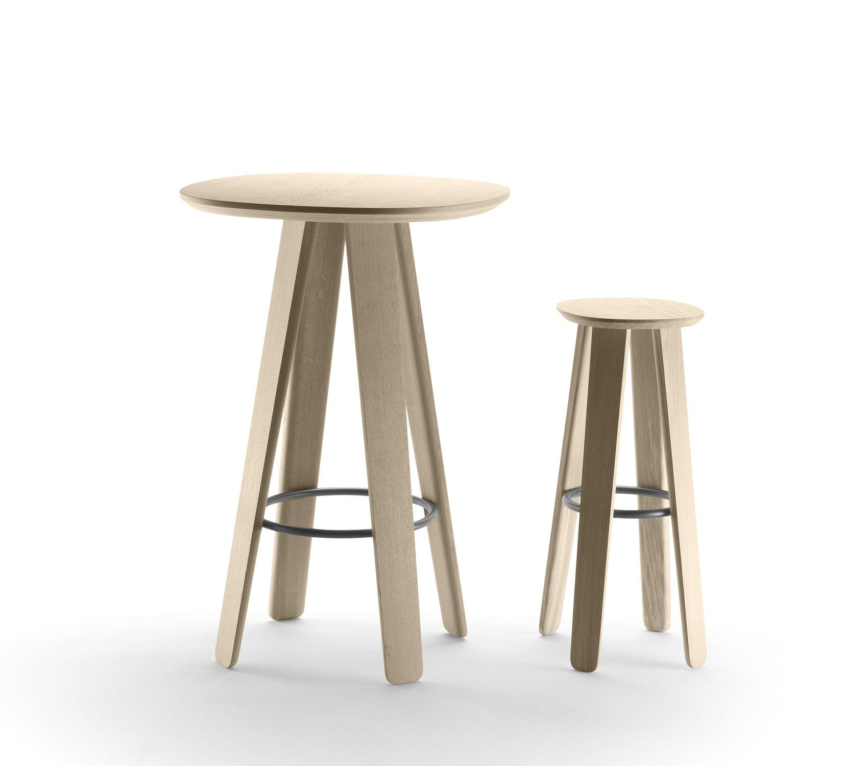 contemporary bar stool  oak  plywood  leather  triku by samuel  -  contemporary bar stool  oak  plywood  leather triku by samuelaccoceberry alki