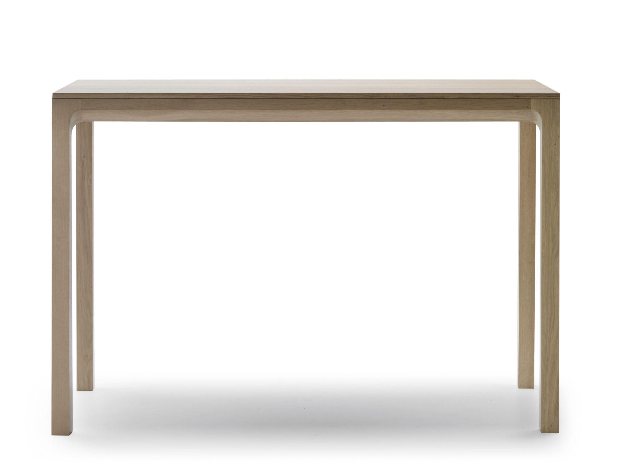 contemporary high bar table  oak  rectangular  laia by jean  - contemporary high bar table  oak  rectangular laia by jeanlouis iratzokialki