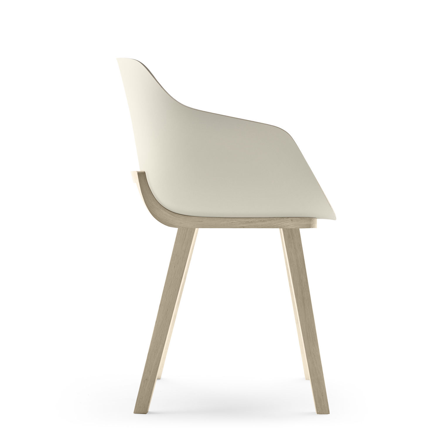 Contemporary Chair / Upholstered / Oak / Solid Wood ...