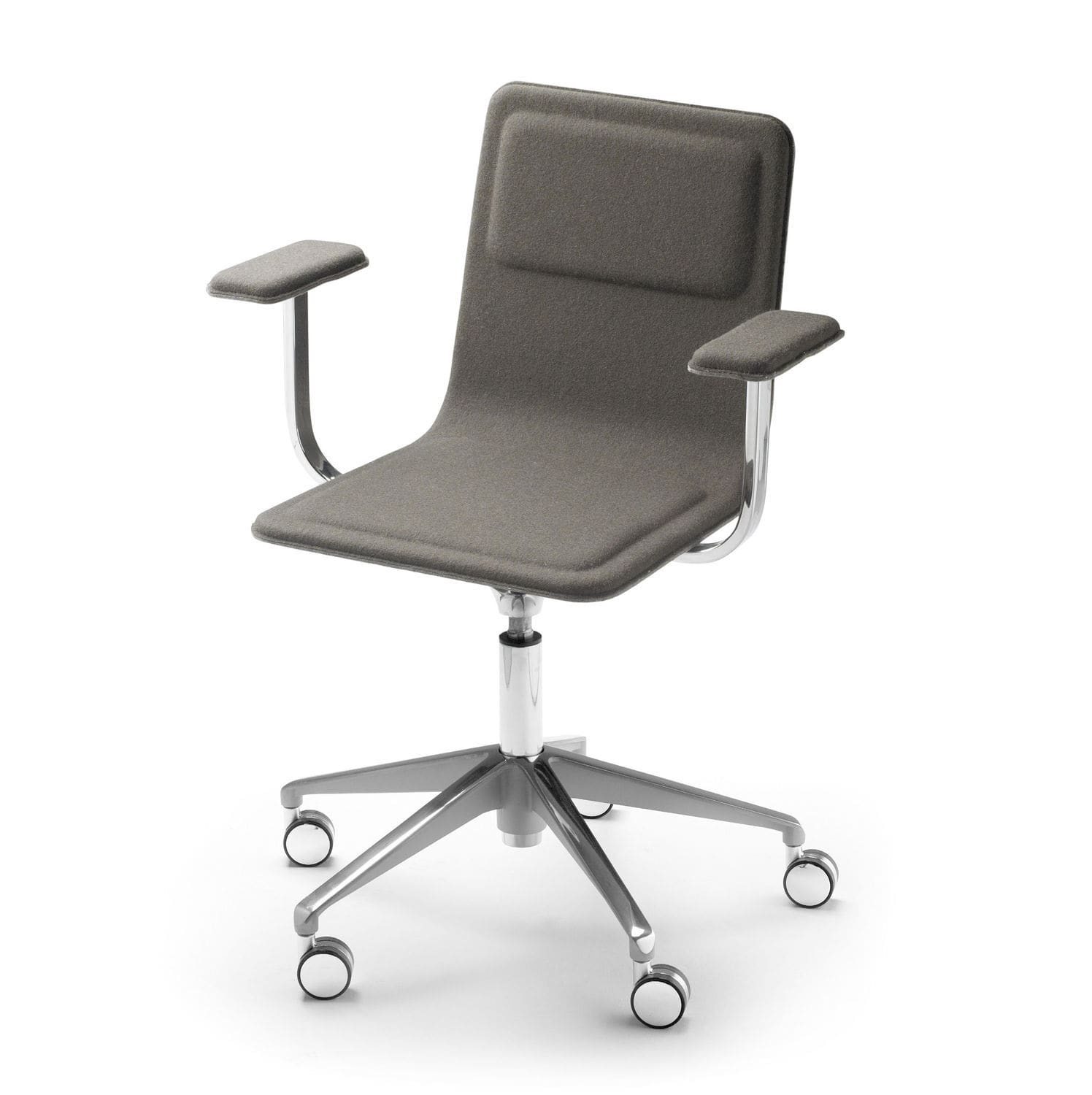 Contemporary office chair fabric leather felt LAIA by Jean