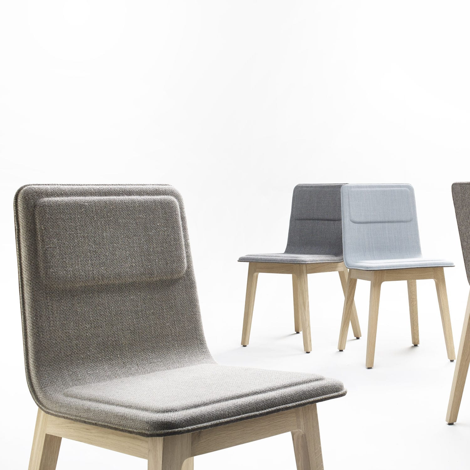 contemporary chair  fabric  oak  leather  laia by jeanlouis  - contemporary chair  fabric  oak  leather  laia by jeanlouis iratzoki