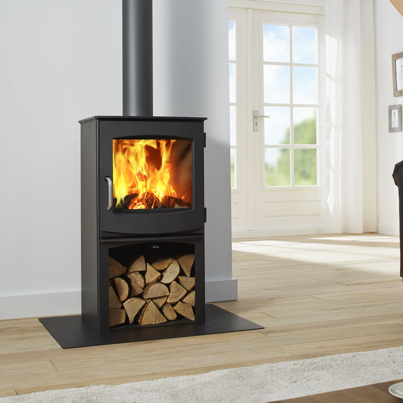 Wood heating stove / contemporary / cast iron - IVAR 5 STORE by ...