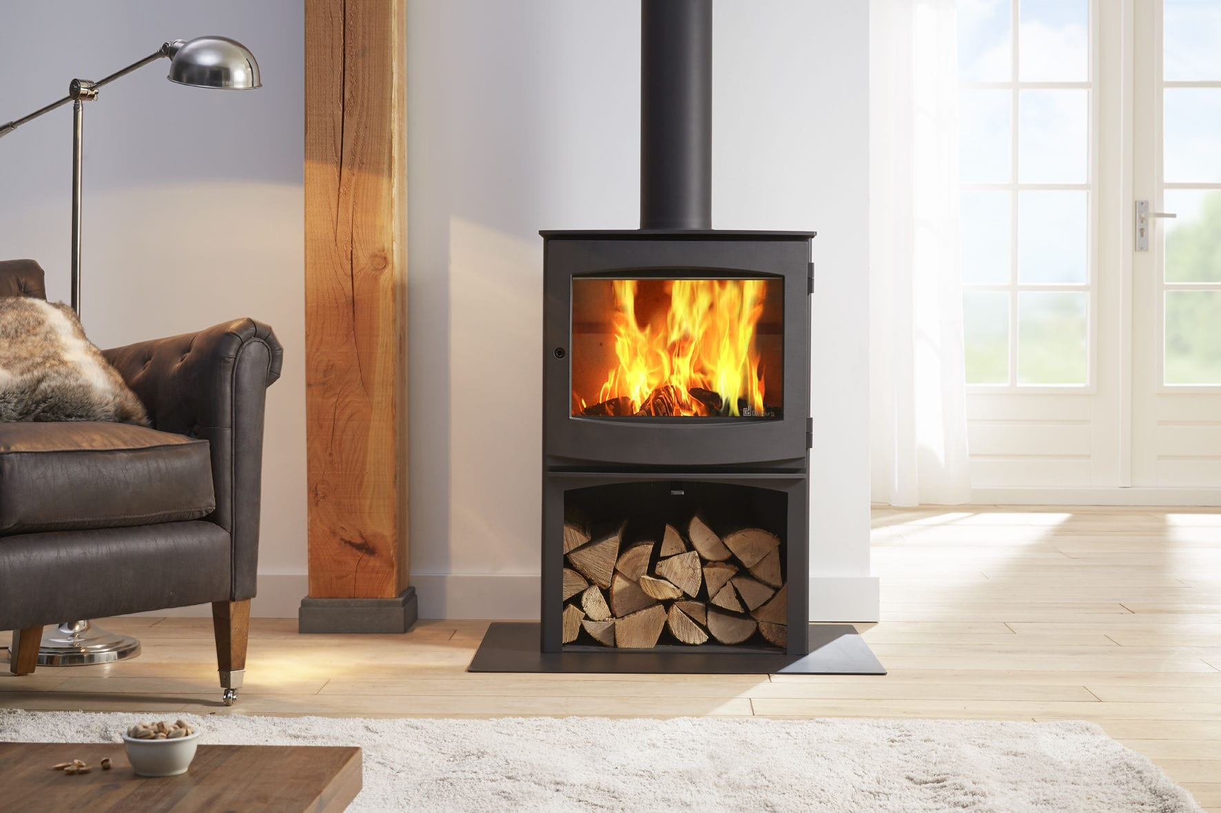 Wood heating stove / contemporary / cast iron - IVAR 8 STORE by ...