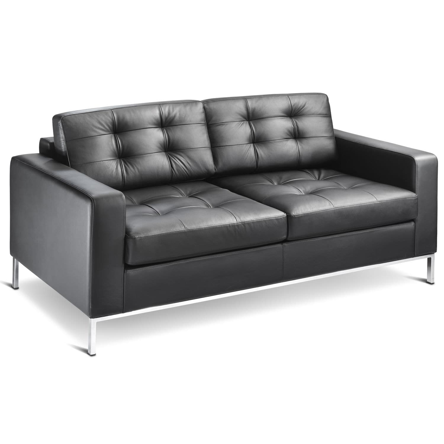 Minimalist Design Sofa Leather 2 Person 3 Seater Check By High