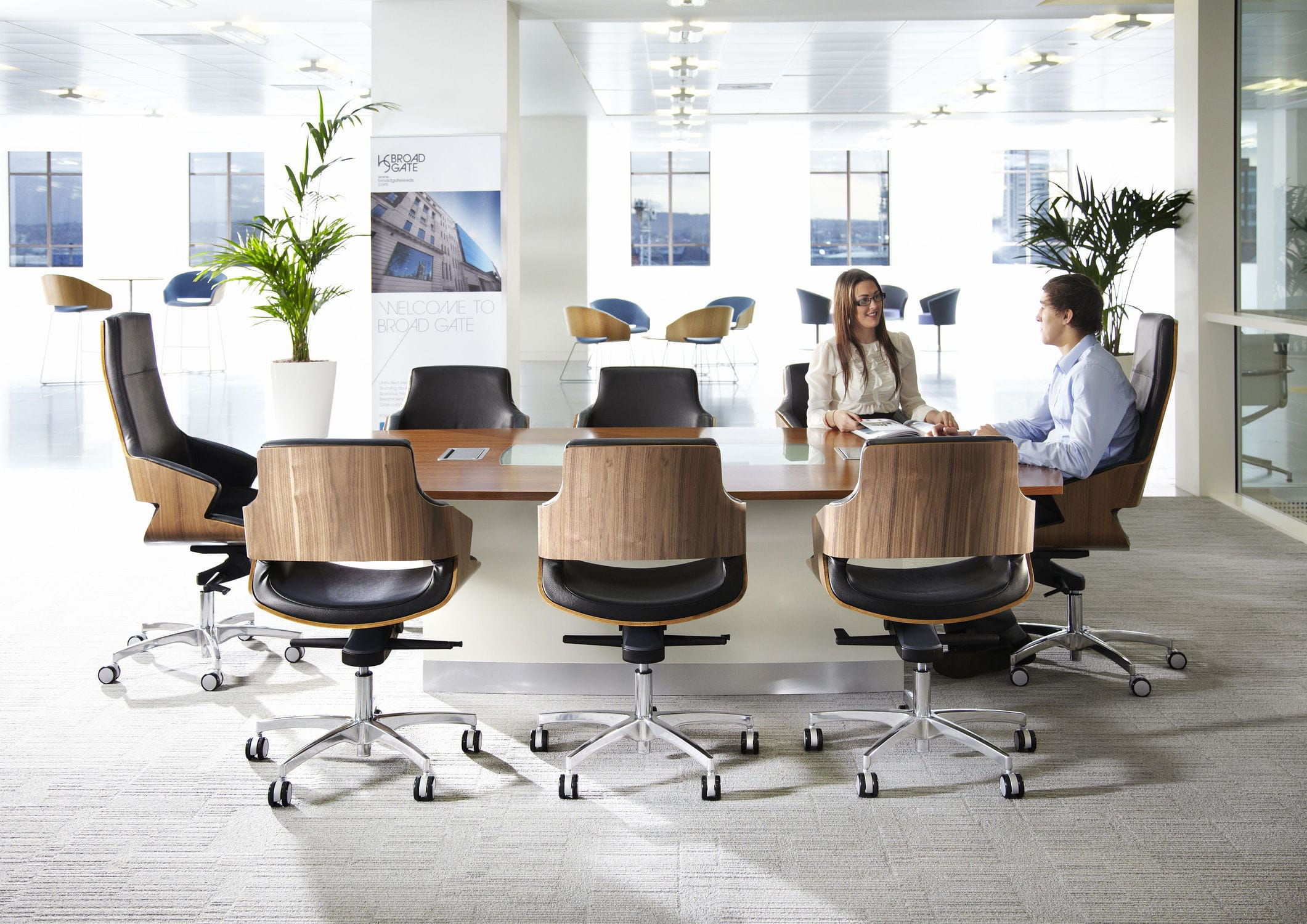 ... Contemporary Office Chair / With Armrests / Upholstered / On Casters  STANLEY By Hilary Birkbeck Connection ...