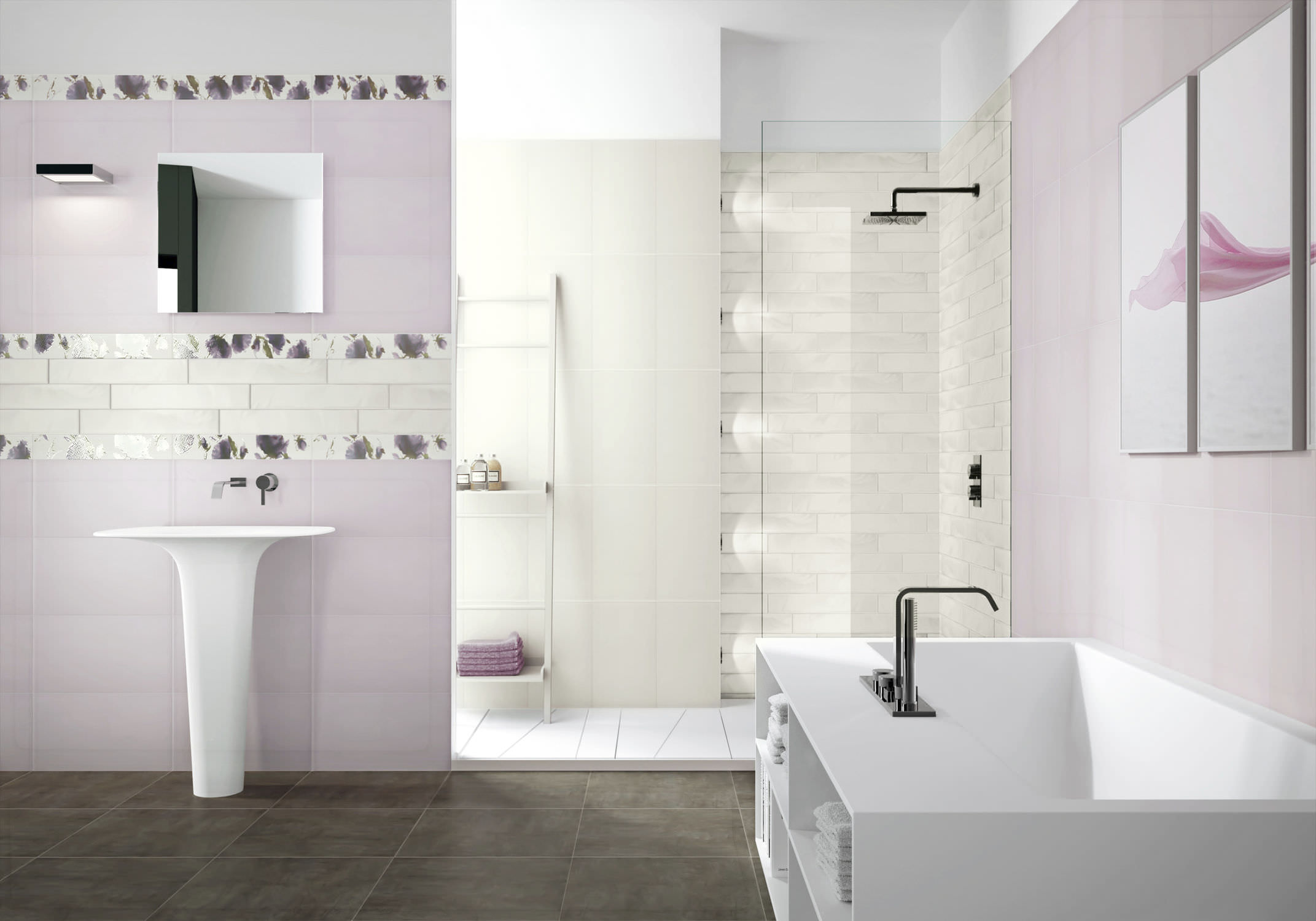 Bathroom Tile Wall Ceramic Plain Euphoria