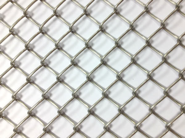 Cladding woven wire fabric / stainless steel / lozenge mesh - HOTEL ...