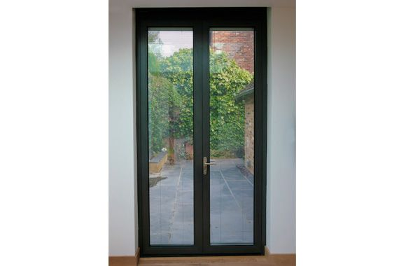 Entry door / swing / aluminum / glazed - SunParadise