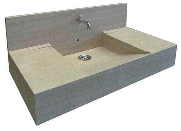 Singlebowl kitchen sink natural stone STILE PIETRE DI