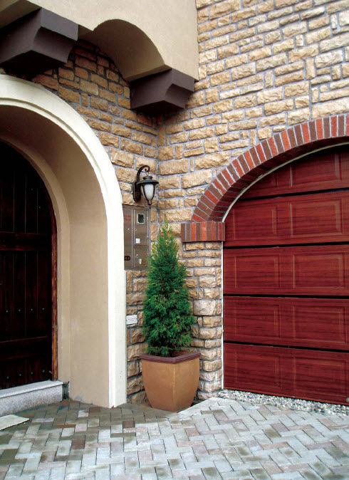 stone wall cladding panel exterior stone look rock face