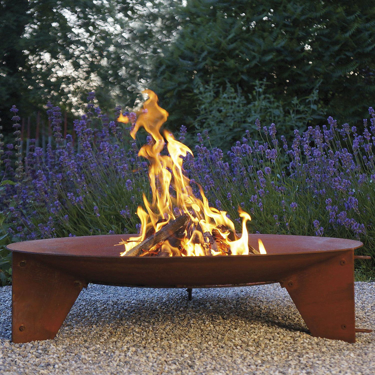 Wood-burning fire pit / steel / contemporary / with barbecue
