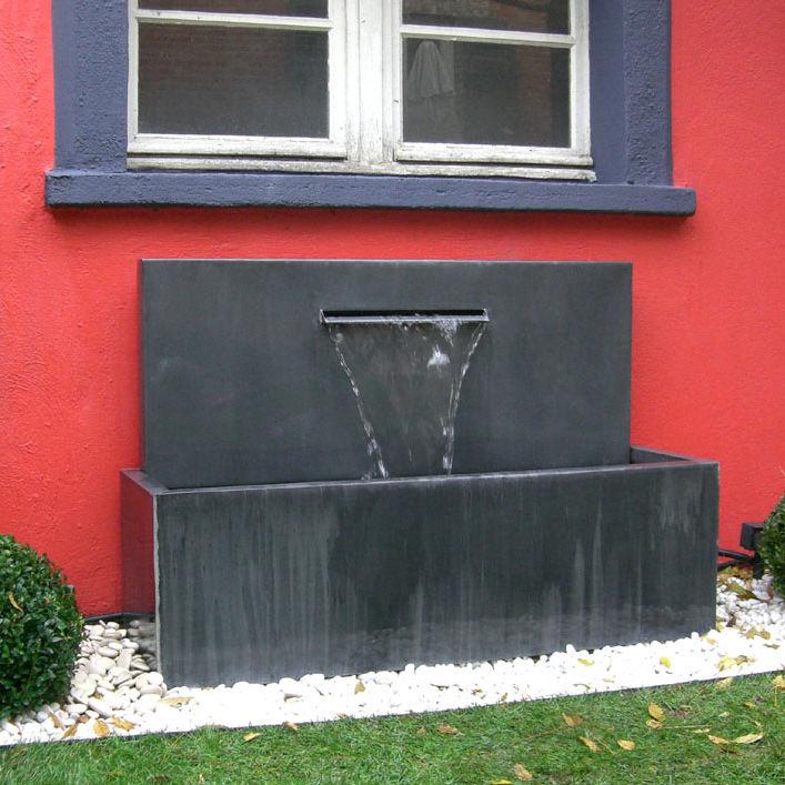 Superbe Fontaine Lame D Eau #8: Garden Fountain / Zinc - FONTAINE ZINC À LAME