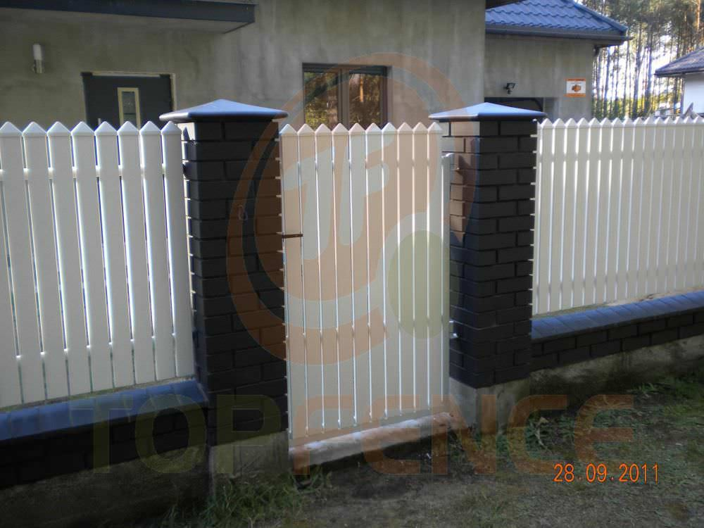 Garden Fence / With Bars / PVC   TRADITIONAL SIMPLE