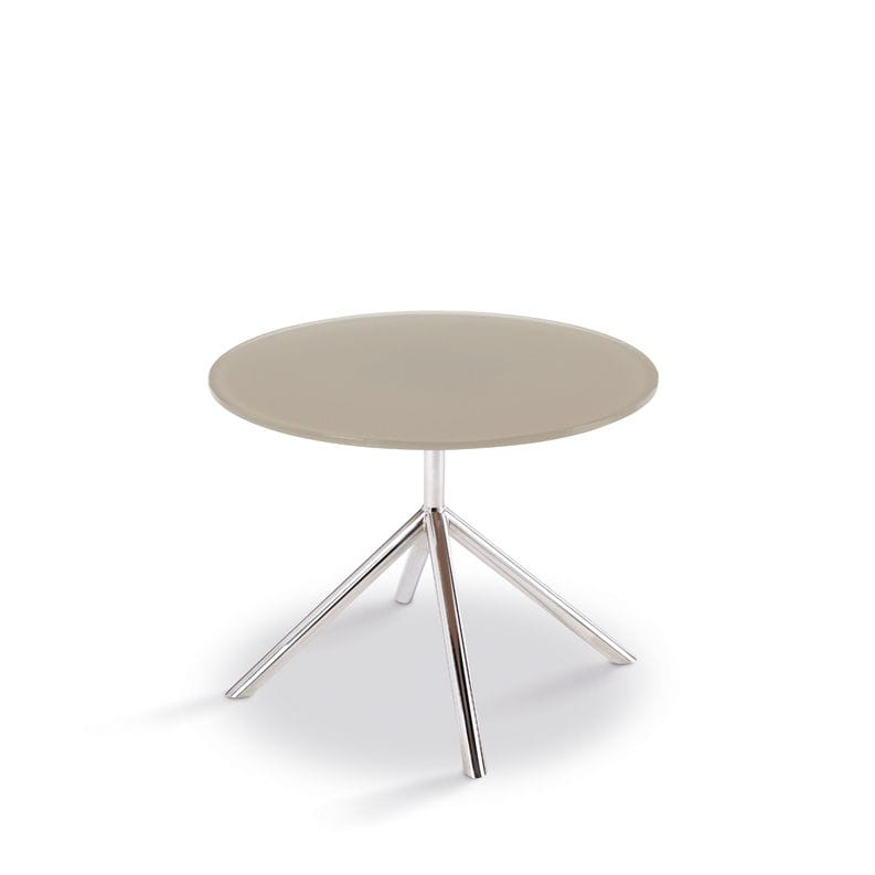 Jan Des Bouvrie Sidetable.Contemporary Side Table Glass Stainless Steel Round