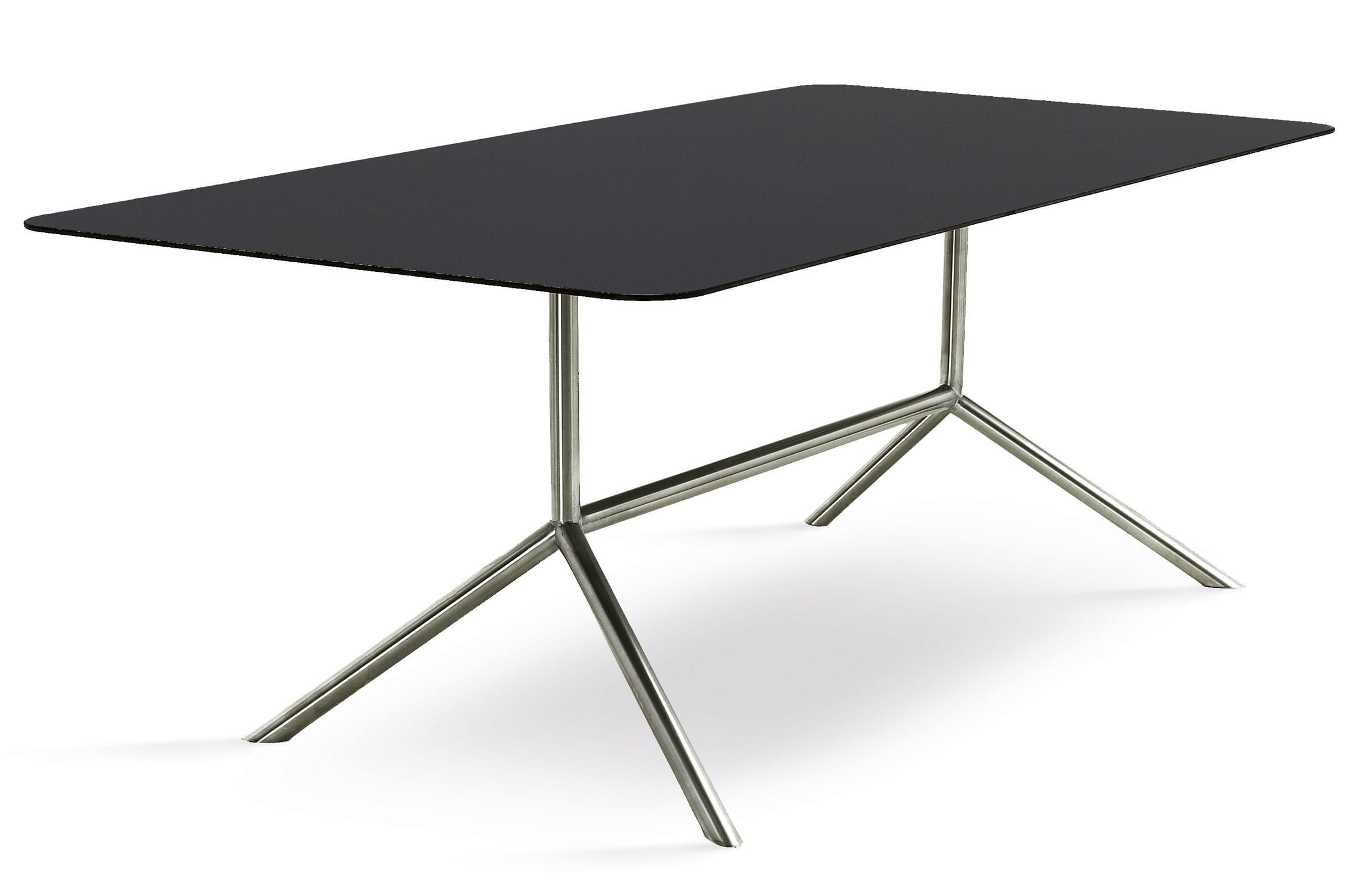 Stainless steel dining table -  Contemporary Dining Table Glass Stainless Steel Rectangular Shell Dinning 100