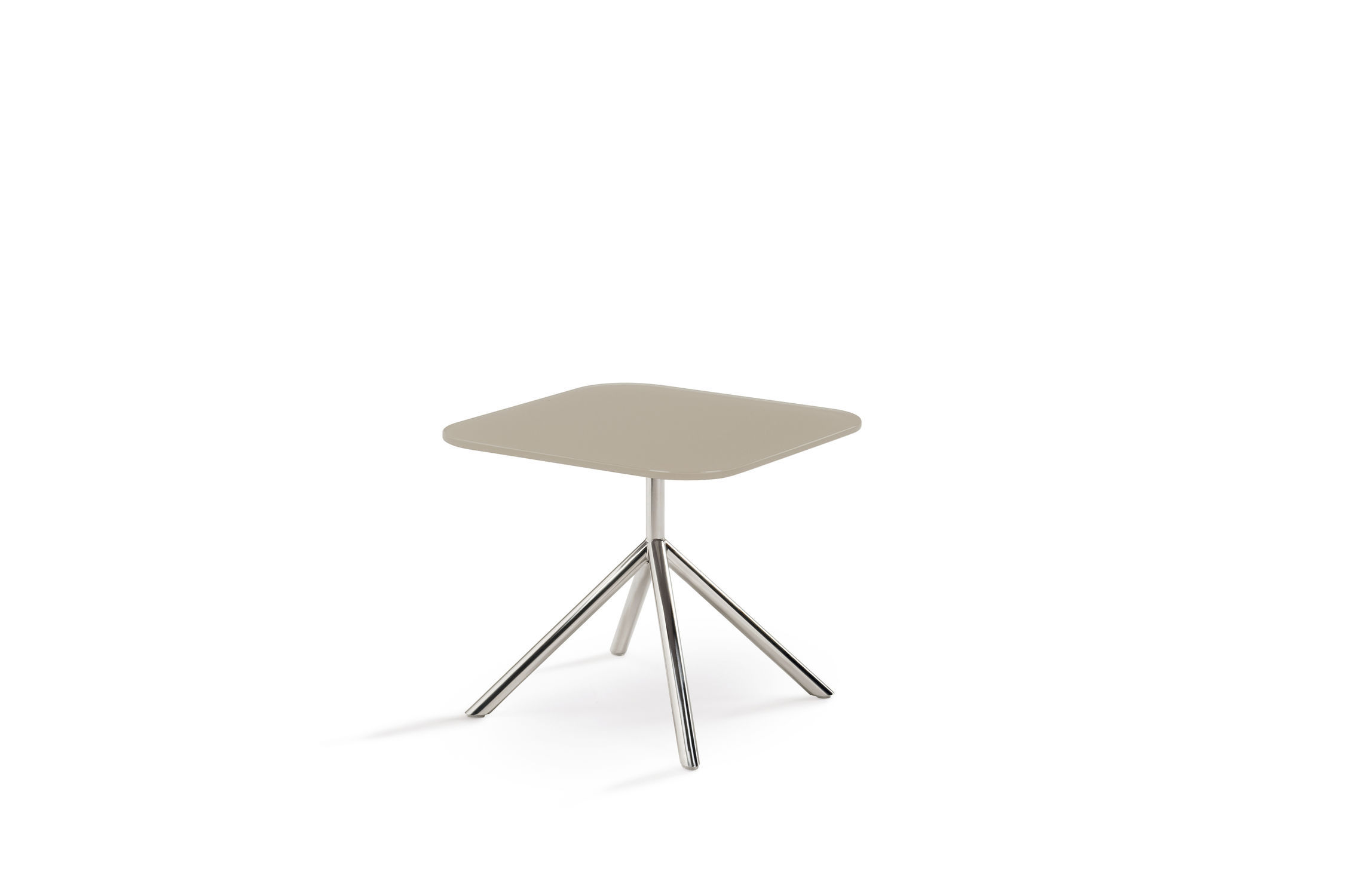 Sidetable Jan Des Bouvrie.Contemporary Side Table Glass Stainless Steel Round