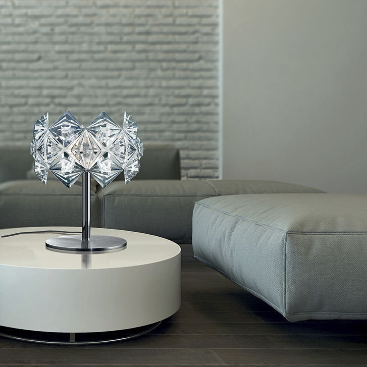 Table Lamp Contemporary Crystal Silver Prisma 820 Lp Lamp