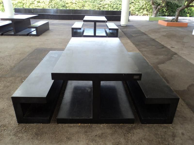 Good Contemporary Picnic Table / Concrete / Rectangular / For Public Spaces AM: PICNIC  TABLE By