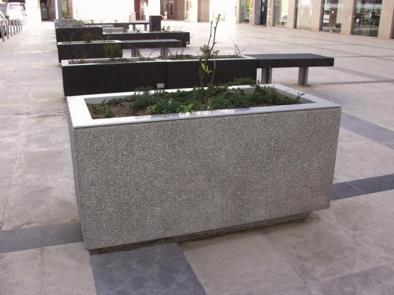 stainless steel planter corten steel concrete rectangular g citizen by