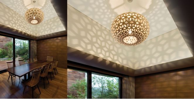 Pendant lamp contemporary bamboo plywood snowflake david pendant lamp contemporary bamboo plywood aloadofball Gallery