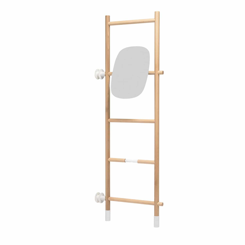 Ladder towel rack / more than 3 bars / floor-standing / wooden ...