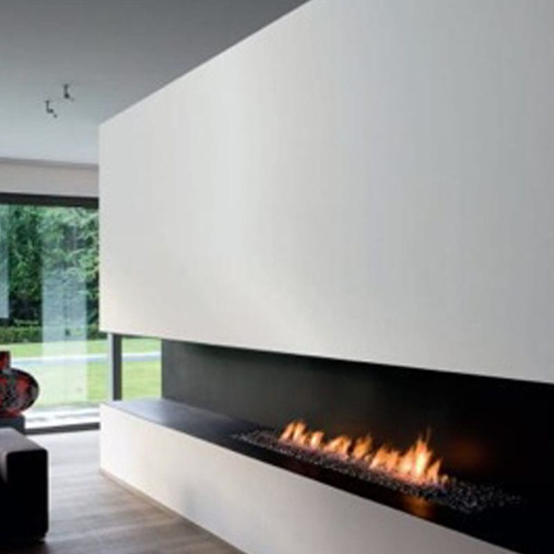 Open Bioethanol Hearth / 1-Sided / Corner / For Fireplaces
