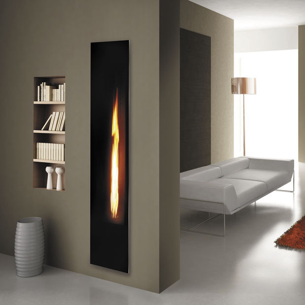 Gas Wall Fireplaces. Gas fireplace insert  remote controlled MIRROR FLAME ITALKERO