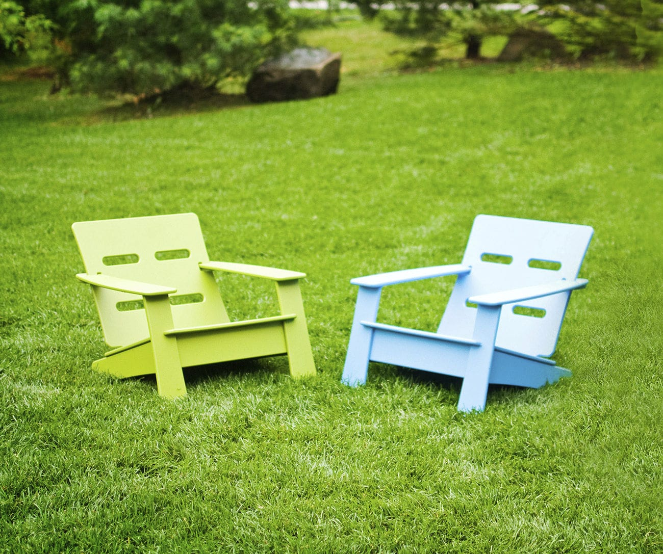Contemporary armchair recycled plastic childs 100 recyclable