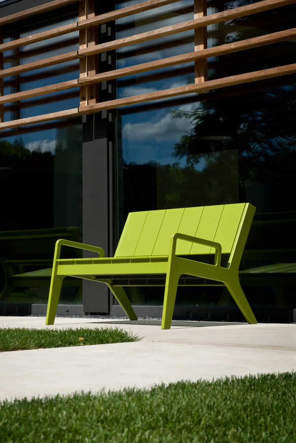 Garden Bench Contemporary Polyethylene With Backrest N 9 By