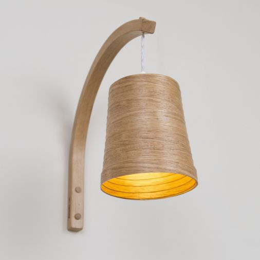 Contemporary wall light fabric oak led stem tom raffield contemporary wall light fabric oak led aloadofball Images