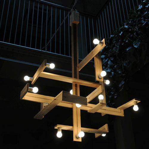 Pendant lamp original design wooden PALLET studiomama