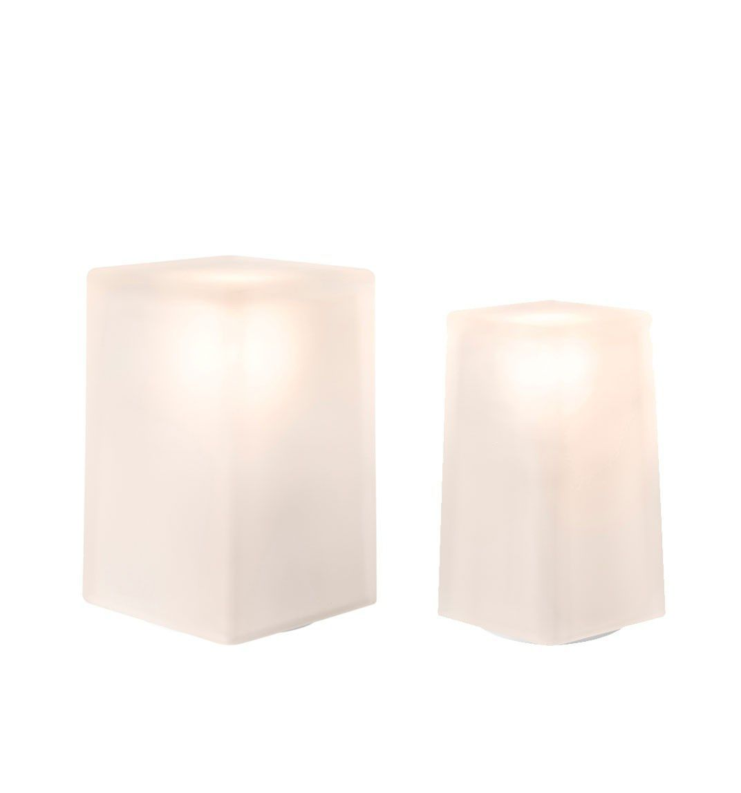... Table Lamp / Contemporary / Frosted Glass / Outdoor ICE SQUARE By Peter  Ellis, Jackie