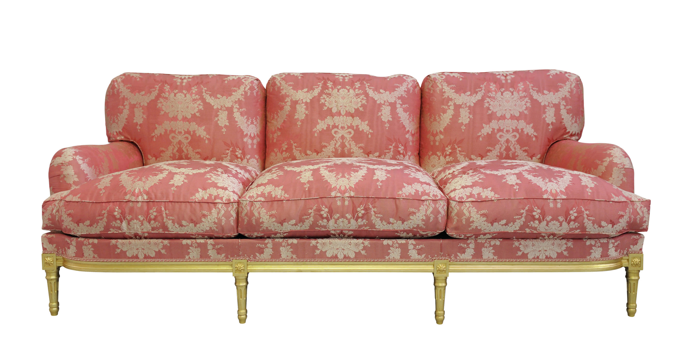 Louis Xvi Style Sofa Fabric 3 Seater Multi Color Sophie