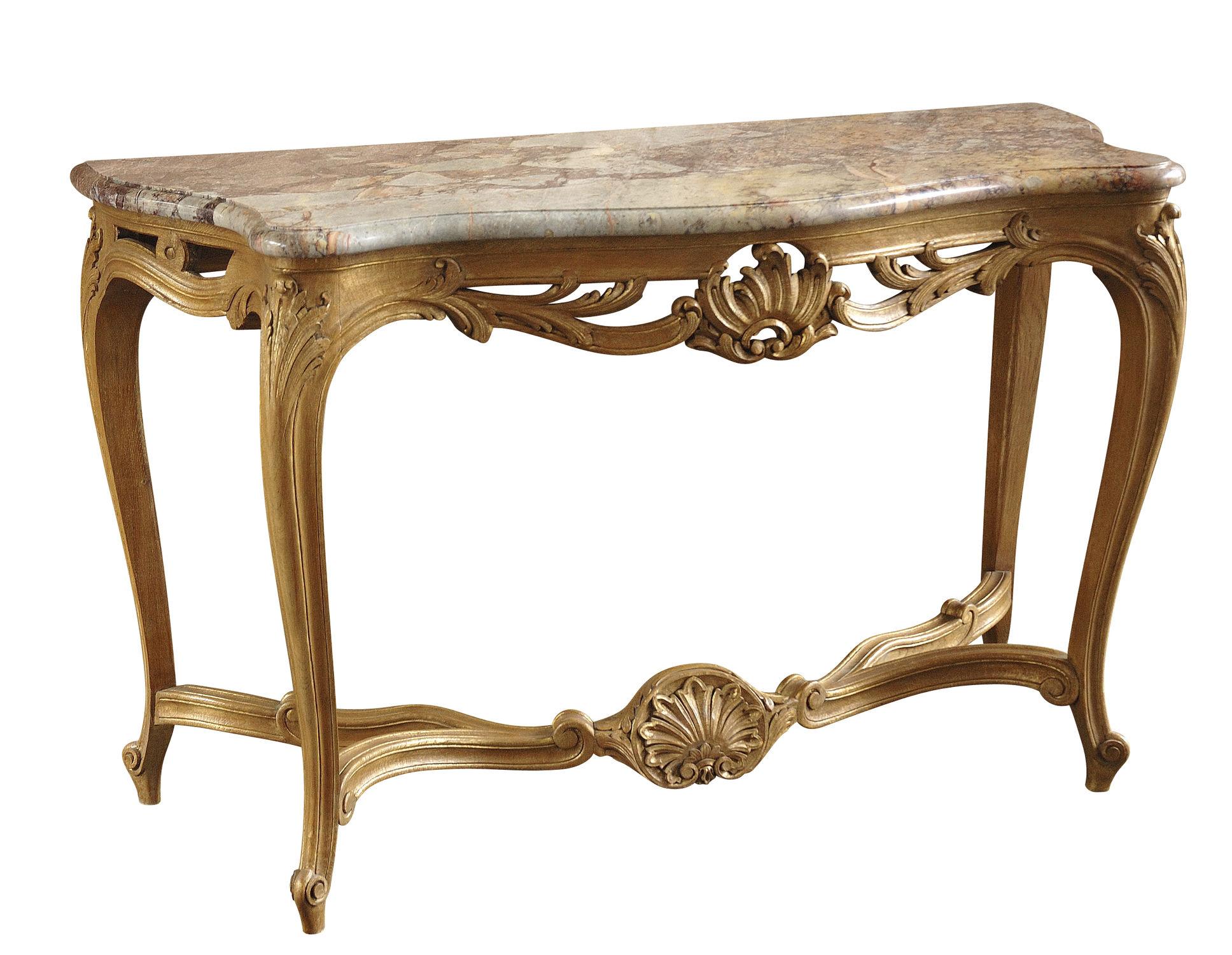 Louis XV style sideboard table / marble / oak / rectangular ...