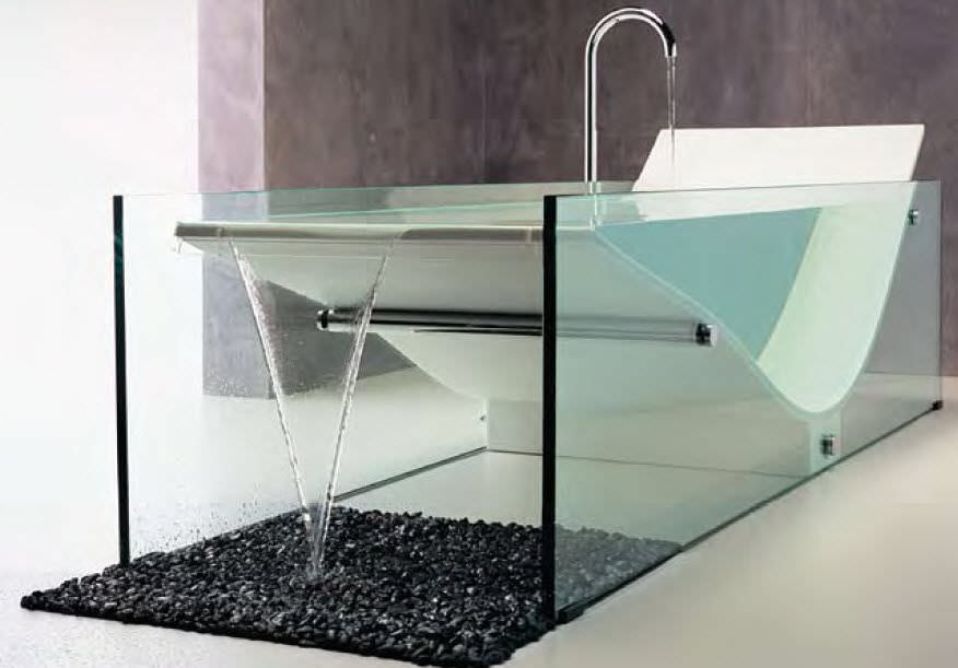 Great Free Standing Bathtub / Solid Surface / Glass   LE COB