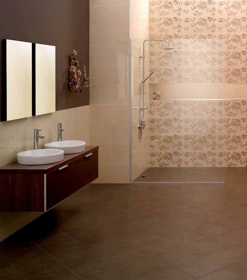 Indoor tile / bathroom / wall / ceramic - MATISSE - Kale