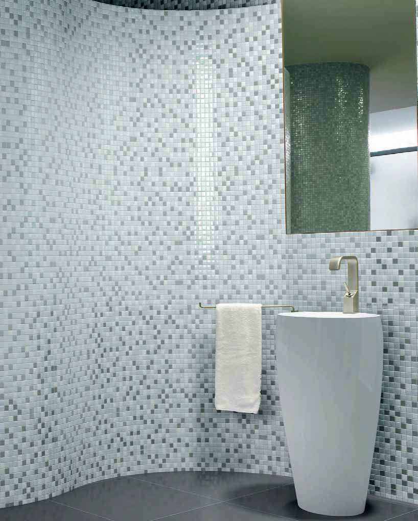Indoor mosaic tile / bathroom / wall / glass - NATURE - Kale