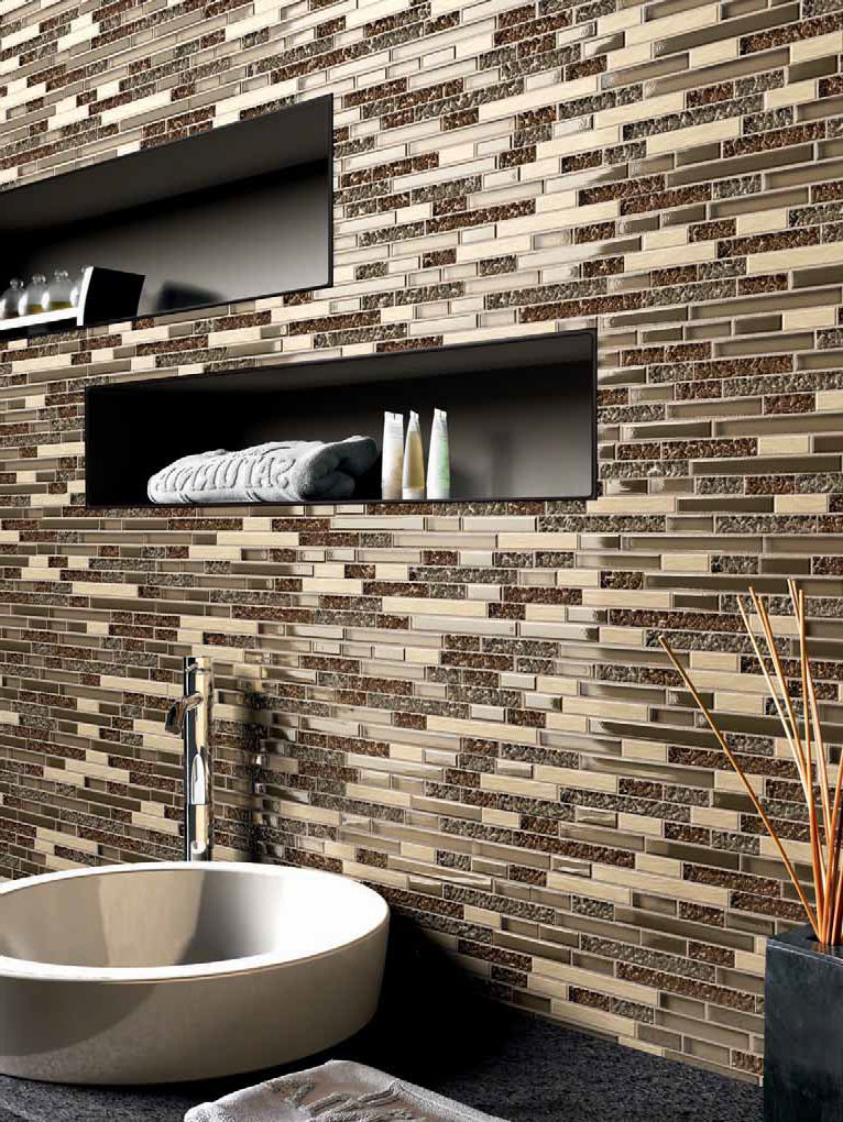 Indoor Mosaic Tile / Bathroom / Wall / Glass NATURE Kale ...