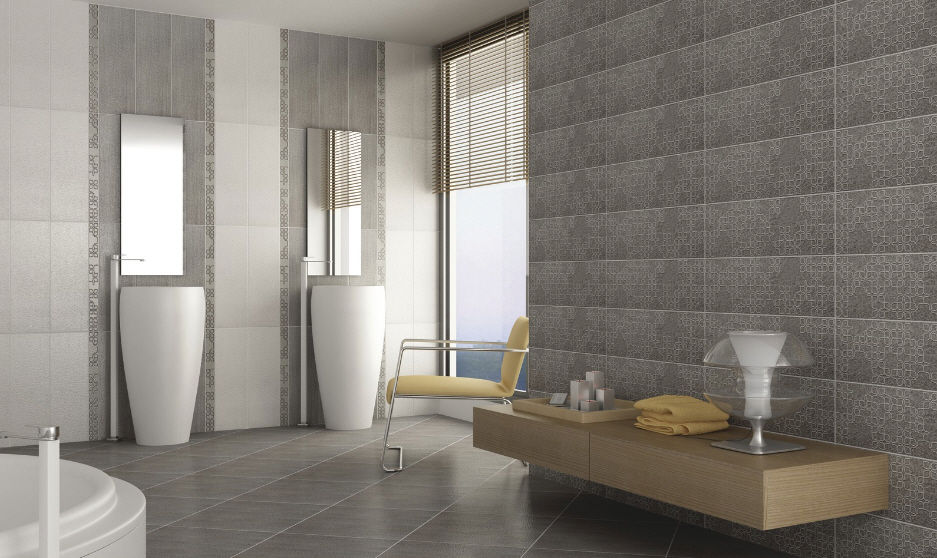 Indoor tile / bathroom / floor / ceramic - ROCHES - Kale on