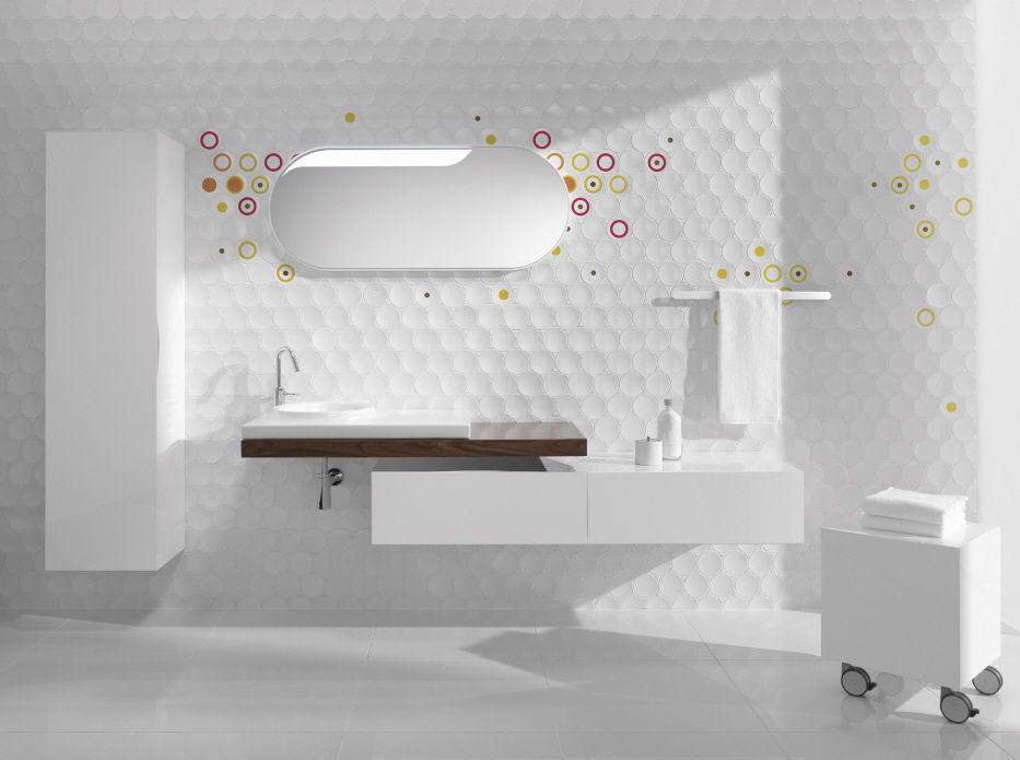 Indoor tile / bathroom / wall / ceramic - DOT - Kale