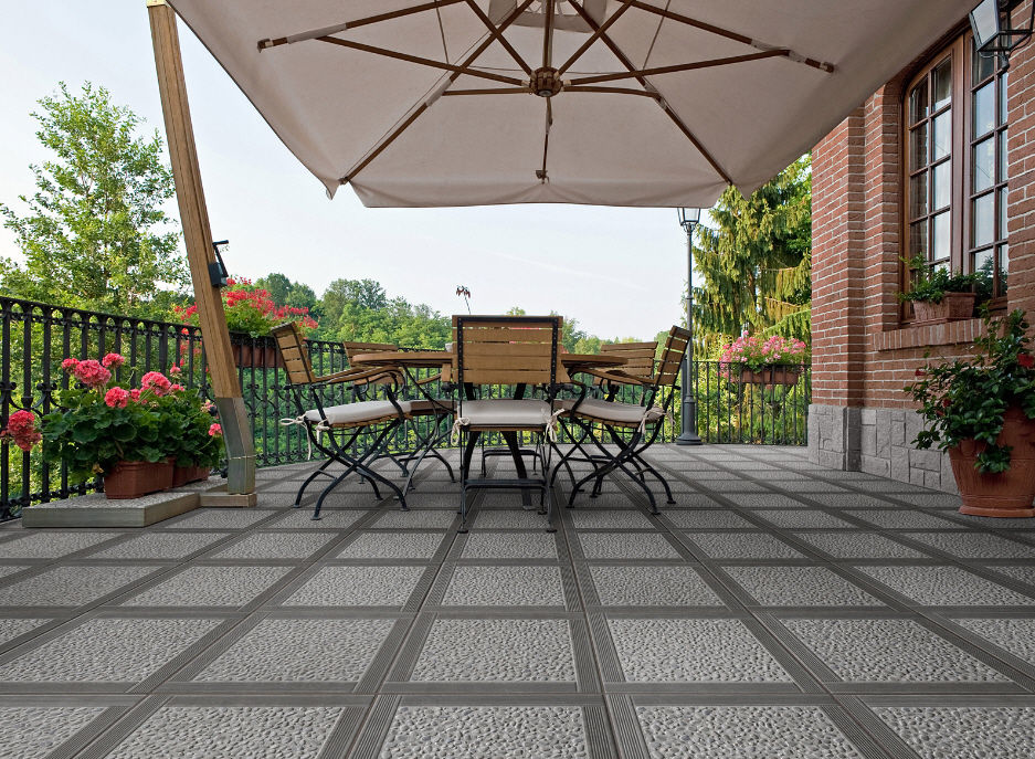 Beautiful Outdoor Tile / For Floors / Ceramic / Embossed   PATIO