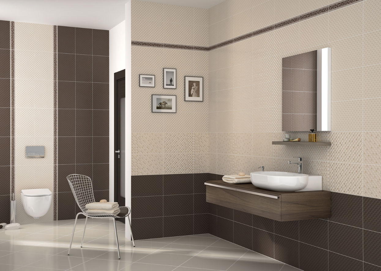 Bathroom tile / floor / ceramic / polished - ARYA - Kale
